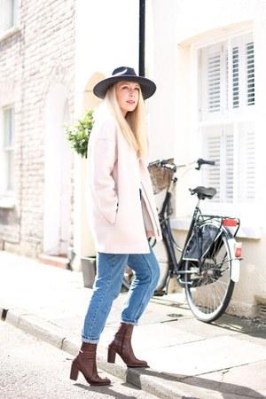 bubble gum wool coat