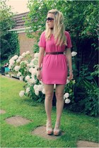 barbie pink Sheinside dress - tribeca heels