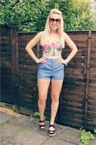 bralet lavish alice top - hm shorts