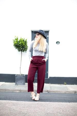 maroon Zara pants
