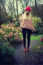 pink AX Paris jumper - chelsea zalando boots - baxters Topshop jeans
