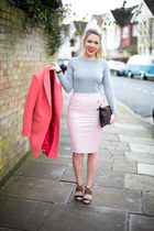 pink coat Reiss coat - Missguided skirt