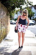 floral shorts Zara shorts