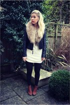 leather Topshop jacket - H&M dress