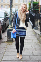 Zara skirt - Topshop jacket - Brit Stitch bag