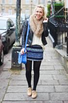 Zara skirt - Topshop jacket - Brit Stitch bag