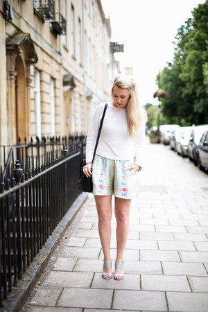 silk shorts Monki shorts