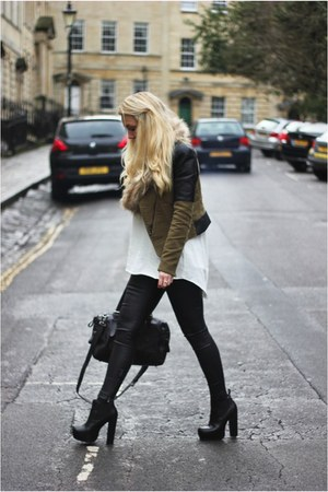 leather Topshop leggings - Zara jacket