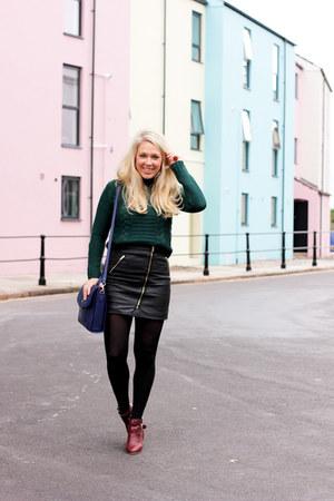 leather mini warehouse skirt