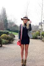 leopard Zara boots - Missguided dress - tweed Zara jacket