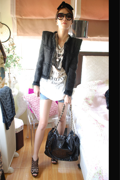 available at ployybblogspotcom jacket - Cocue top - chanel bag accessories - Zar