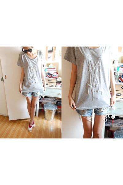 shopployy t-shirt - dry clean only shorts