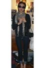 Black-h-m-cardigan-blue-jeans-black-nine-west-shoes-scarf-cole-han-sungl