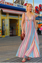 Multi Print Maxi Dress at Coney Island
