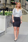 Charcoal-gray-mini-mac-rebecca-minkoff-bag-snakeskin-dynamite-blouse