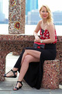 Red-bow-kate-spade-bag-red-dynamite-top-black-maxi-dynamite-skirt