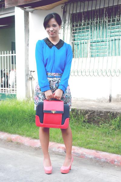 vintage skirt - Chick Flick shoes - Chick Flick bag - The Posh Wardrobe blouse