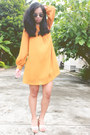 Mustard-h-m-dress
