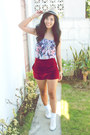 Brick-red-the-posh-wardrobe-shorts-blue-supre-top