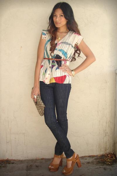 beige Charlotte Ronson blouse