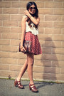 Cream-h-m-top-brick-red-f21-skirt-dark-brown-zaea-clogs-gold-house-of-harl