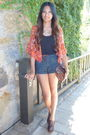 Red-forever21-blazer-black-old-navy-top-blue-forever-21-shorts-brown-steve