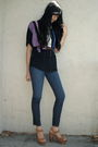 Black-sparkle-fade-top-blue-j-brand-jeans-brown-jeffrey-campbell-shoes-gol
