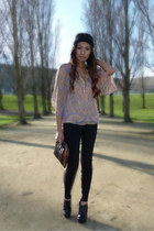 black Joes Jeans jeans - peach Forever 21 blouse - black Aldo wedges