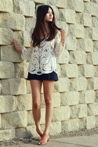 chicnova blouse - Zara shorts