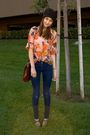 Orange-vintage-blouse