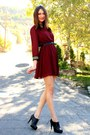 Crimson-dahlia-dress-black-aldo-heels