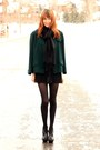 Black-cynthia-vincent-dress-forest-green-vintage-coat-black-michael-kors-hee
