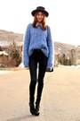Navy-james-jeans-jeans-periwinkle-vintage-sweater