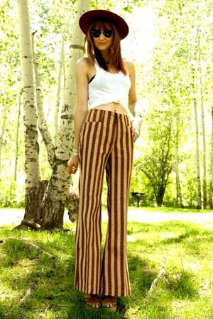 tawny vintage pants - tawny Aldo heels