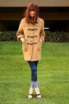 beige thrift coat