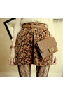 Beige-vintage-shirt-brown-vintage-skirt-brown-nordstrom-tights-brown-frye-