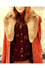 Tawny-vintage-jacket-dark-brown-vintage-blouse-bronze-raven-denim-pants