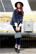 blue Cheap Monday jeans - blue JET coat - white ted baker top