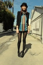 Trash-pretty-blouse-vintage-versace-shorts-h-m-blazer-jeffrey-cambell-shoe