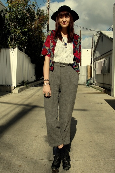 Decades jacket - white Goodwill shirt - silver Repeat Boutique pants