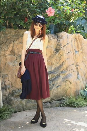 red thrift skirt