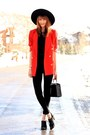 Red-vintage-jacket-black-riding-pant-american-apparel-pants