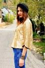 Sky-blue-vintage-wrangler-jeans-gold-baby-phat-jacket