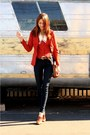 Orange-thrifted-jacket-blue-james-jeans-jeans-bronze-sleepwalker-la-shoes