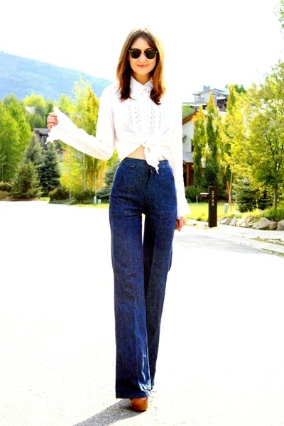 navy vintage wranglers jeans - tawny Steve Madden boots