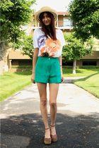 green vintage shorts