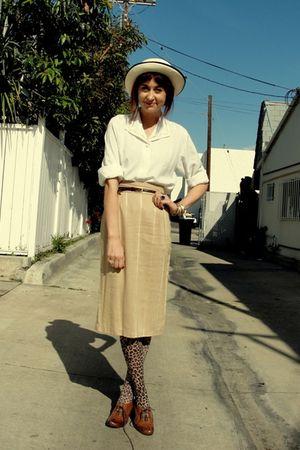 brown Goodwill skirt