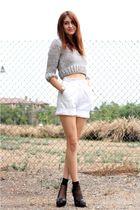 white vintage shorts