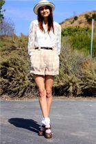 beige vintage shorts