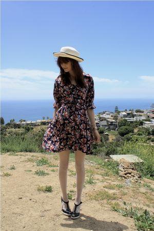 blue thrift dress